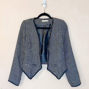 Lush Tweed Blazer Jacket Size 28
